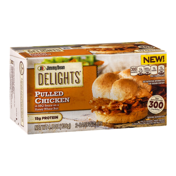 Jimmy Dean Delights Pulled Chicken In BBQ Sauce Sandwiches - 2 CT