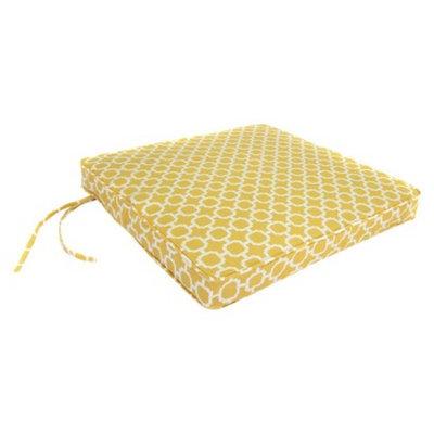 Jordan Outdoor Seat Cushion - Yellow/White Geometric 19