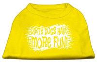 Ahi Dirty Dogs Screen Print Shirt Yellow XXL (18)