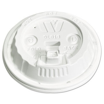 WINCUP DLB18* Disposable Lid, Reclosable, Dome, PK1000