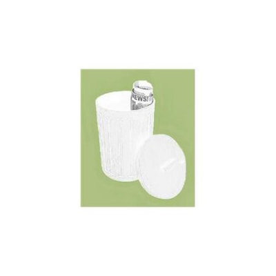 Cox Culinary Emporium OSC14FWH WHT Oskar Garbage Can - White - Case of 4