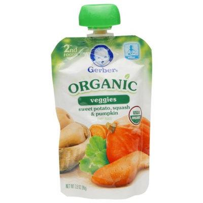 Gerber 2nd Foods Organic Pouch, Sweet Potato, Squash & Pumpkin, 3.5 oz
