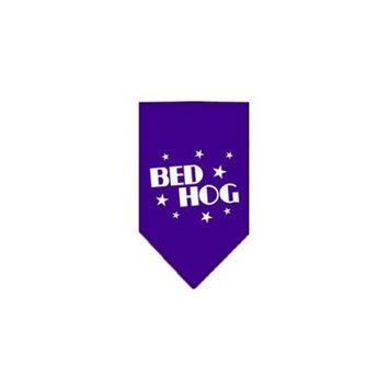 Ahi Bed Hog Screen Print Bandana Purple Large