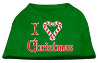Ahi I Heart Christmas Screen Print Shirt Emerald Green Lg (14)
