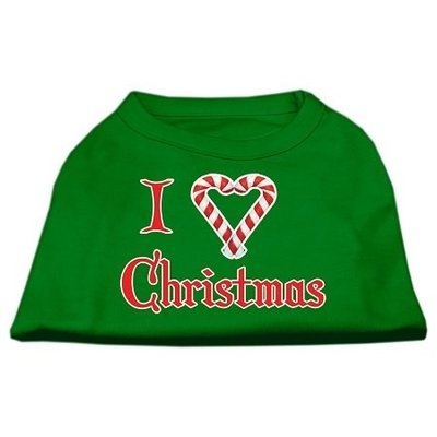 Ahi I Heart Christmas Screen Print Shirt Emerald Green Lg (14)
