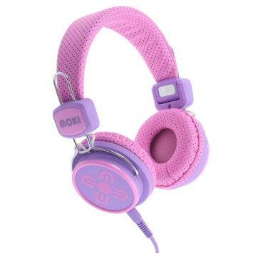 Moki Kid Safe Volume Limited Over-the-Ear Headphones - Pink/Purple (4MOK00724)