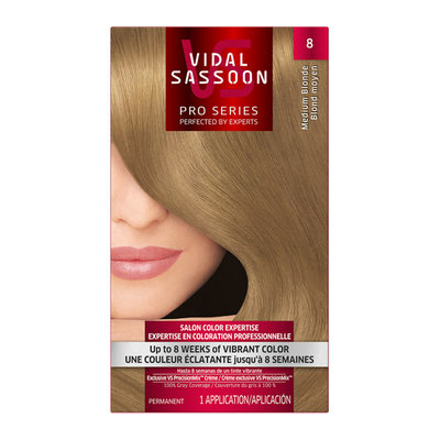 Vidal Sassoon Pro Series Hair Color 8 Medium Blonde 1 Kit