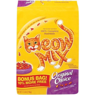 Meow Mix Original Choice Dry Cat Food, 17.6 pound