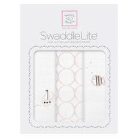 SwaddleDesigns Swaddle Designs Boats & Fish SwaddleLite 3pk - Pink