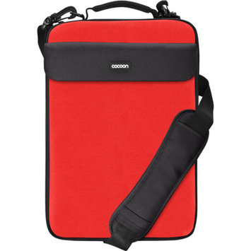 COCOON INNOVATIONS Cocoon CLS407RD NoLita II Laptop Sleeve with Handle and Shoulder Strap for up to 16 inch Laptops - Racing Red