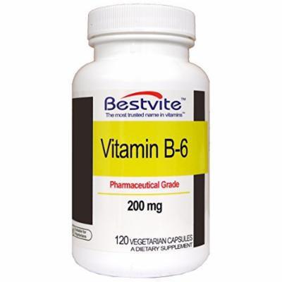 Vitamin B-6 200mg (120 Vegetarian Capsules)