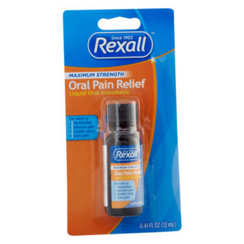 Rexall Maximum Strength Oral Pain Relief, 0.41 fl oz