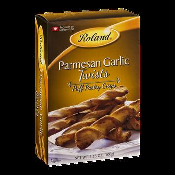 Roland Puff Pastry Crisps Parmesan Garlic Twists