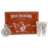 True Religion Eau De Parfum Spray 3.4 oz, Eau De Parfum Mini .25 oz, Body Lotion 3.0 oz & Bath & Shower Gel 3.0 oz