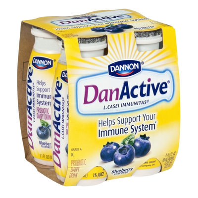 Dannon DanActive Blueberry Flavored Probiotic Dairy Drink - 4 CT