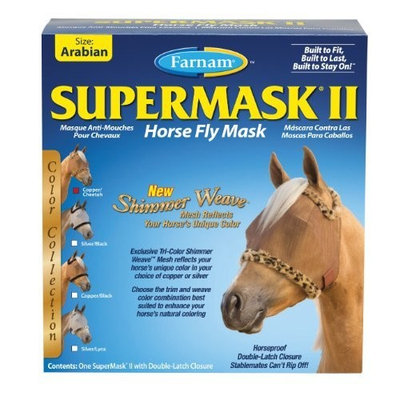 Farnam Companies Inc Farnam SuperMask Shimmer Weave Fly Control Mesh for Horses, Arab, Copper Fly Control Mesh