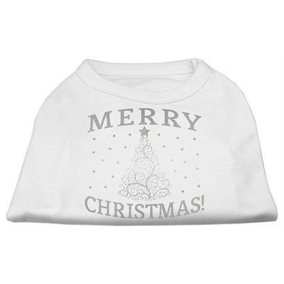 Ahi Shimmer Christmas Tree Pet Shirt White XXL (18)