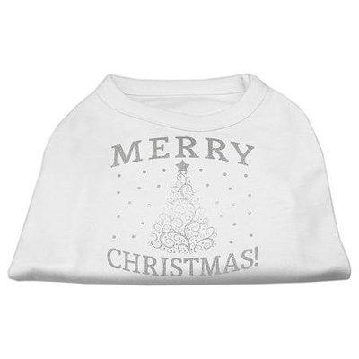 Ahi Shimmer Christmas Tree Pet Shirt White XXL (18)