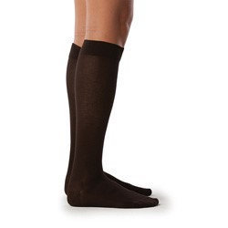 Sigvaris Sea Island Cotton 222CXSW10 20-30 mmHg Womens Closed Toe Socks Navy - Extra Large Short