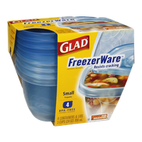 Glad FreezerWare Small Containers & Lids - 4 CT