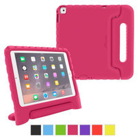 iPad Air 2 Case - roocase KidArmor Kid Proof EVA Series iPad Air 2 2014 Shock Resistant Convertible Handle with Kickstand Kids Friendly Cover Case for Apple iPad Air 2 (2014), Magenta