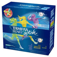 Tampax Pearl Active Light/Regular/Super Multipak - 36 Count