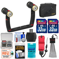 SeaLife SL987 Universal Underwater Photo/Video Sea Dragon Duo 2000 Video Lighting Set with 2 32GB Cards + Case + Accessory Kit