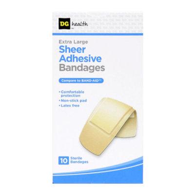 DG Health Sheer Adhesive Bandages - Extra Large, 10 ct - 2