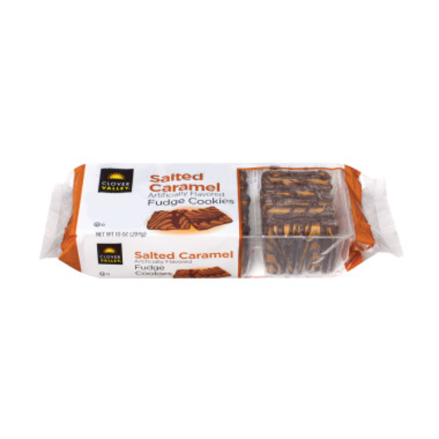 Clover Valley Salted Caramel Fudge Cookies - 10 oz.