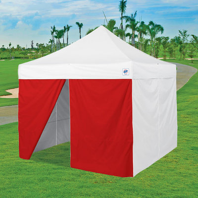 International E-z Up, Inc. 8' Middle Zipper Instant Shelter Sidewall - Red