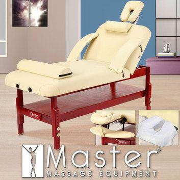 Master Massage 31'' Spa Stationary LX Massage Table in Cream