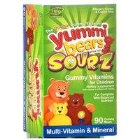 Yummi Bears Sourz, Multi-Vitamin and Mineral, 90 Gummy Bears