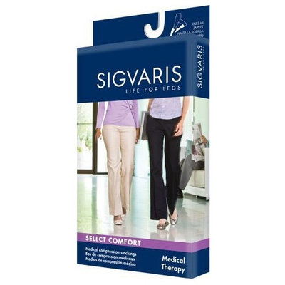 Sigvaris 860 Select Comfort Series 30-40 mmHg Women's Closed Toe Pantyhose - 863P Size: L1, Color: Suntan 36