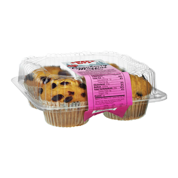 Sweet City No Trans Fat Cranberry Muffins - 4 CT