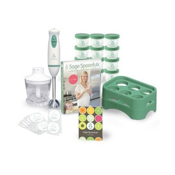 Sage Spoonfuls Baby Food Maker 19 Pc Starter Kit - Includes Immersion Blender, Food Processor, Storage Jars, Trays, Recipe Book, & More