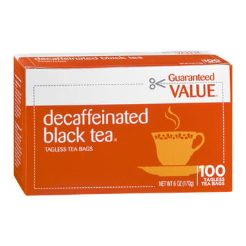Guaranteed Value Decaffeinated Black Tea - 100 CT