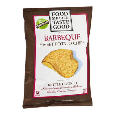 Food Should Taste Good Brand Kettle Cooked Sweet Potato Chips Barbeque