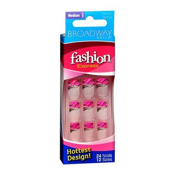 Broadway Nails Fashion Express Nails, Medium Length, 24 nails - KISS NAIL PRODUCTS, INC.
