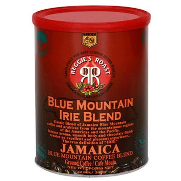 Reggies Roast Reggie's Roast Jamaica Blue Mountain Irie Blend Ground Coffee, 12-Ounce Cans (Pack of 3)