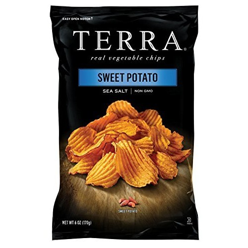 TERRA Crinkle Cut Sweet Potato, Sea Salt, 6 Ounce (Pack of 12)