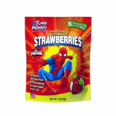 Funky Monkey Snacks, Spider-Man, Ultimate Strawberries, 1 Ounce