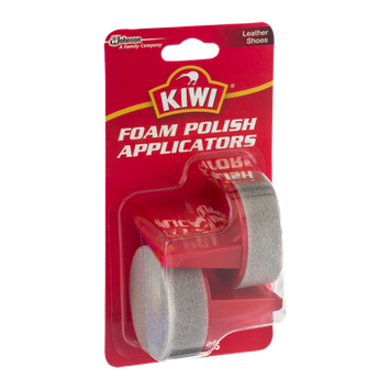 Kiwi Foam Polish Applicators Leather Shoes - 2 CT