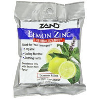 ZAND Herbalozenge Lozenges, Lemon Zinc, Natural Lemon Flavor , 12- 15 lozenge bags (180 Lozenges)