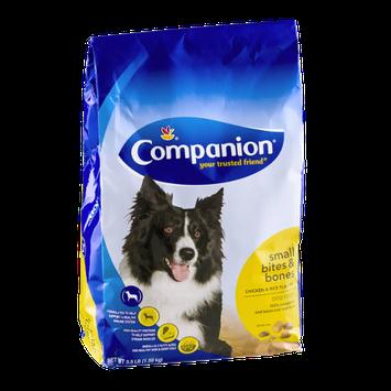 Companion Small Bites & Bones Dog Food Chicken & Rice Flavors