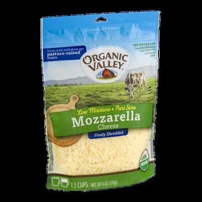 Organic Valley Mozzarella Cheese Finely Shredded