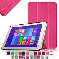 Fintie Slim Shell Case Ultra Lightweight Stand Cover Only Fit Toshiba Encore WT8 Windows 8.1 8-Inch Tablet, Magenta