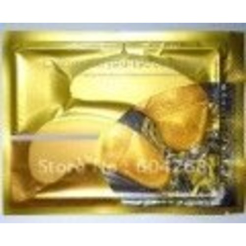 gold collagen crystal eye mask 7 Pck -GOLD COLLAGEN Crystal EYE Bag MASK - DARK CIRCLES, BAG FREE BONUS FEATHER HAIR EXTENSION WITH PURCHASE S, WRINKLES-Crystal Collagen Anti-Aging Eye Mask- Banish Bags, Dark Cricles, and Puffiness