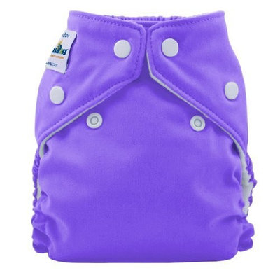 FuzziBunz Perfect Size Cloth Diaper, Grape, Large 25-40+ lbs