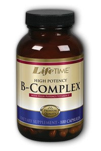 Hi Potency B-Complex with 1000 mg Vitamin C, 100 Capsules, LifeTime