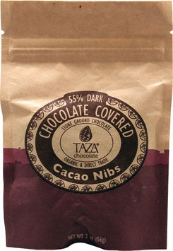 Taza Chocolate OrganicChocolate Covered Cacao Nibs 2 oz